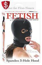 Fetishwear Hood Clothing 3-Hole Face Mask Kinky Gear Fetish Mouth Eyes Slave