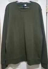 H&M Divided Mens Sweatshirt Size XL Dark Green Pullover Crewneck Long Sleeve
