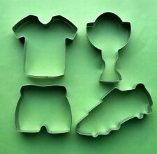 Soccer Foot ball boots Jersey Pants Prize Cup Baking Fondant Cookie Cutter Set