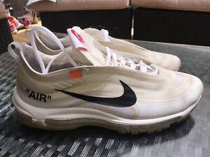 "NIKE THE 10 AIR MAX 97 ""OFF-WHITE"" 2017 C.1997 Men's 11 AJ4585 100"