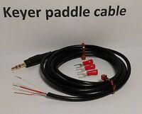 "CW Keyer paddle Cable 6 feet, 1/8"" (3.5mm) Plug, Gold STRAIGHT KEY Morse code"