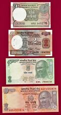 India Unc Notes: 1 Rupiah 2017, 2 Rpes 1976, 5 Rpes 2009, 10 Rpes 2011 Star Note