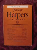 HARPER'S January 1938 BENEDICT THIELEN STUART CHASE JOHN T. FLYNN LIONEL WIGGAM