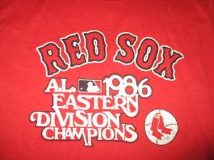 Original Trench 1986 American League Champions BOSTON RED SOX LG Shirt JIM RICE