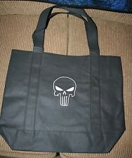 """""""Punisher"""" Inspired Black Bag with white thread machine embroidered NWOT"""