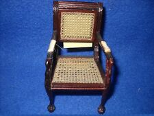Dollhouse miniature: hand caned swan chair by Bespaq, 1:12 scale, #8130