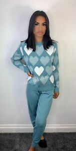Turquoise heart design co-ord