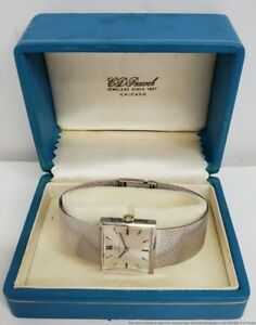 Cleanest 14k White Gold Ladies Omega Vintage Watch Ever W/ orig CD Peacock Box