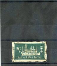 DANZIG Sc 211(MI 270b)VF USED 1937 50pf BLACKISH OPAL GREEN $27