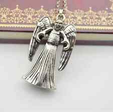 Unique Alloy Doctor Who 3D TARDIS Weeping Angel Demons Pendant Necklace Cool