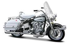 HARLEY DAVIDSON 1966 FLH ELECTRA GLIDE 1:18 Negro Modelo De Motocicleta - METAL