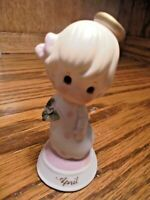 Vintage LEFTON China APRIL Angel Girl 1983 Porcelain Ceramic Figurine 03225  105