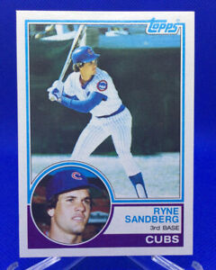 1983 Topps RYNE SANDBERG #83 Rookie Card RC Cubs HOF NM+