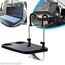 Car Laptop Desk Computer Fold Down Steering Wheel Work Foldable Cup Holder Stand