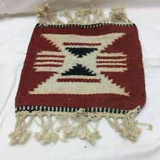 Vintage Souvenir Southwest Woven Wool Table Piece Ornate Design