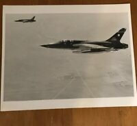 2 USAF F-105's in flight 35th Tactical Fighter Wing March AFB Riverside CA 1980