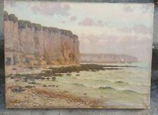 Ancien tableau huile sur toile signé.