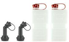 2x FUELFRIEND-PLUS CLEAR 1,5 Liter Mini-Reservekanister + Füllrohr verschließbar