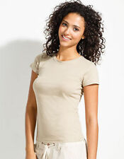 Waist Length Crew Neck No Plus Size T-Shirts for Women