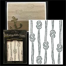 COUTURE CREATIONS Embossing Folders KNOTTED ROPE Cuttlebug Compatible folder