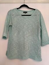 New Look Green Thin Knit Jumper UK Size 14