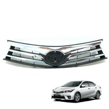 For 2014-2016 Toyota Corolla Altis Chrome Front Upper Grill Grille Cover Sedan