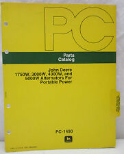 John Deere 1750W, 3000W, 4000W, 5000W Alternators Portable Power Parts Catalog