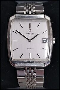 Vintage Omega De Ville Swiss Made Automatic Mens Stainless Steel Watch 162.048