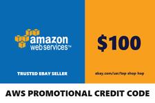 $100 Amazon Web Services AWS Credit Code