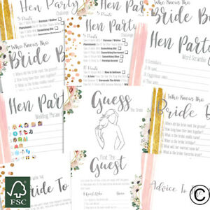 Hen Party Accessories Hen Party Games Who Knows Bride Best Advice To The Bride