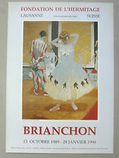 Maurice Brianchon affiche originale Art Danse Opéra Arlequin Fresnay / Sarthe