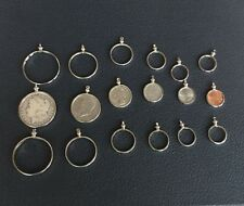 USA COIN HOLDER BEZEL LOT SILVER DOLLAR FIFTY CENTS QUARTER DIME NICKEL PENNY=18