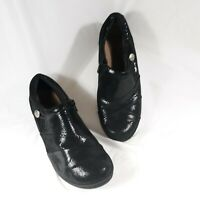 Clarks Shiny Shoes Side Zip Soft Cushion Womens Size 9 M