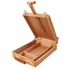 Us Art Supply Artist 14In Wood Tabletop Desk Sketchbox Easel Painting W/ Drawers