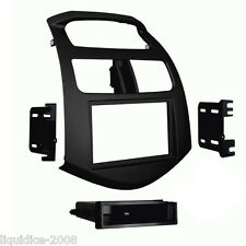 CT23CV12 CHEVROLET SPARK 2013 to 2015 BLACK DOUBLE DIN FASCIA ADAPTER PANEL