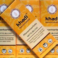 Khadi Pflanzenhaarfarbe Mittelblond 100g Naturkosmetik zertifiziert vegan bio
