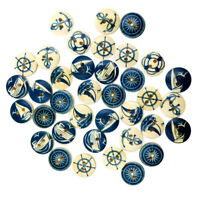 100 Round Wooden Flat Buttons Sewing 2 Holes Buttons for Scrapbooking 15mm