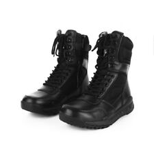 Mens Women Outdoor Tactical Leather Boots Lightweight Military Combat SWAT Shoes