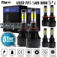 Mylight 4-Side Combo 9005+9006+H11 LED Headlight Fog Light White Hi/Lo Beam Bulb