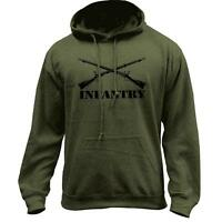 Army Infantry Branch Insignia Military Veteran Pullover Hoodie
