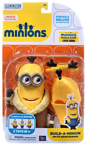 MINIONS BUILD A MINION ARCTIC KEVIN BANANA 3 IN 1 DELUXE FIGURE MOVIE EXCLUSIVE