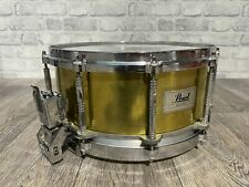 More details for pearl free floating system brass shell snare drum 14