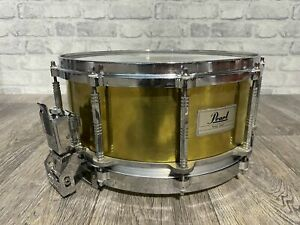 """Pearl Free Floating System Brass Shell Snare Drum 14""""x6.5"""" / 80's #SN096"""