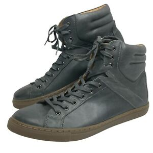 Kenneth Cole Reaction Mens Think I Can Sneakers Gray Grey High Top 9.5 M READ