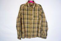Mountain Hard Wear men's size M button front long sleeve plaid green shirt