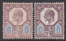 More details for 242a-4 5d dull/slate purple & ultramarine m29 (1-2) pair very fine & fresh l.m.m