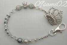 ❤ Bling Personalised Dummy Clip Shamballa & Crystal Diamante crown Romany!!❤