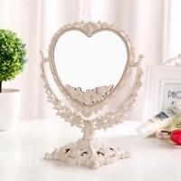 Vintage Mirror Floral Oval Handheld Style Princess Elegant Makeup Beauty Tools