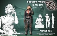 WOO Free shipping 1/35 TANK Girl Resin Figure Model Kit WWII German Tank girl