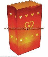 Paper Heart Candle & Tea Light Holders